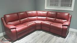 BRAND NEW Red Genuine Leather Reclining Sectional