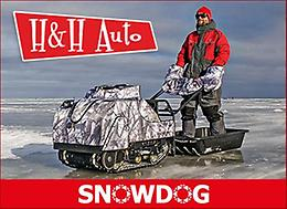 SNOWDOG - The ultimate machine for ice fishing, hunting, snow sports and fun!
