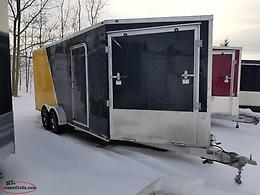 2019 7' X 18' + 5'V Enclosed Trailer