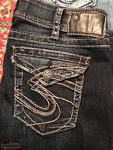 Four Pairs Ladies Silver Jeans