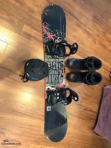 K2 Astar Snowboard With Bindings, Boots And Helmet