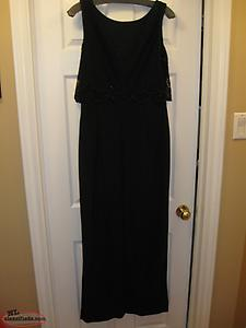 LYMAN DESIGNER EVENING GOWN BLACK SIZE 12