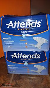 Never Opened Size M Severe Protection Incontinence -$15 per pack, 24 in a pack