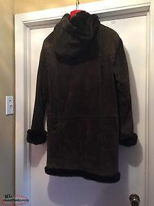Suede Coat With Hood For Sale
