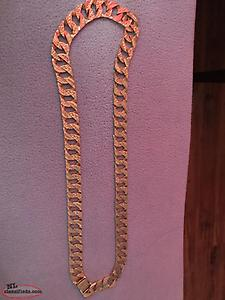 Men's gold chain 122.5 gs