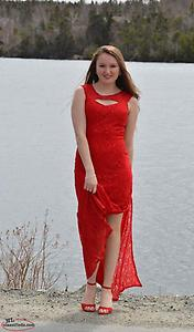 Red dress- size small (4-6)