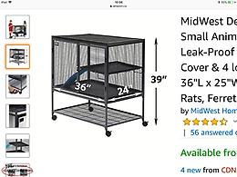 Large Pet Cage for Rats, Hamsters, Rabbits, Gerbils, Ferrets etc.