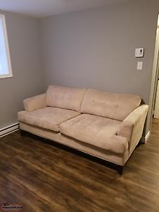 Micro suede 3 seater couch and love seat