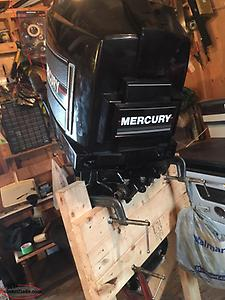 75 hp mercury 2 stroke outboard motor for sale for parts or rebuild