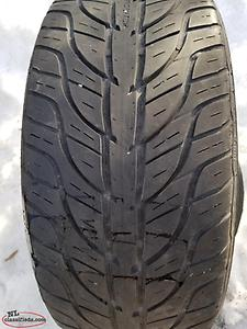 Two used 215 45 17 tires