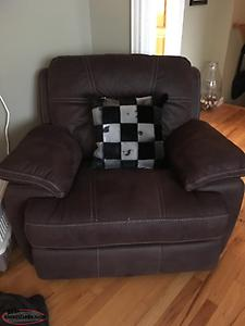 Recliner sofa and chair