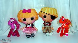 Lalaloopsy Dolls Patch and Misty plus 2 Pony Figures