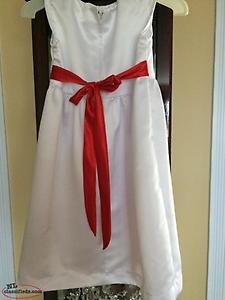Wedding Gown, Flowergirl Dress, and a White Wedding Cape ~ $150.00