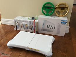 Wii Console with Acessories and Games