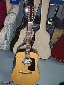 1980's washburn 12 string guitar with pickup
