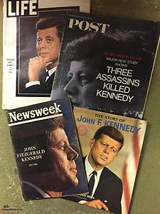 A selection of John. F. Kennedy memorial magazines