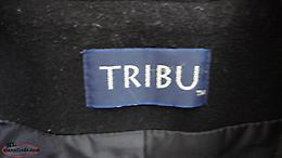 Tribu Black Jacket, zippered, lined, size 14, excellent