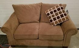 Love seat and accent pillow