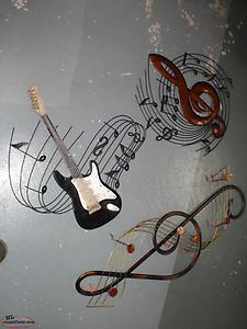 music tin wall hangers