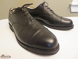 Canada West Black Cap-Toe Oxford 11F - Made in Canada!