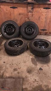 225/65-R17studded winter tires and rims for sale!