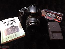 Canon EOS Rebel XTi 400D Digital camera with 18-55mm zoom lens