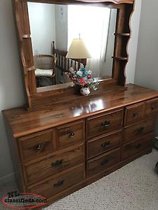 Bed frame and dresser