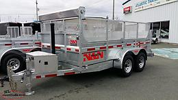 72 x 144 Galvanized Dump Trailer