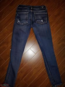 American Eagle Blue Super Skinny Jeans