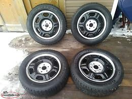 Set of 16 Inch Honda Steel Rims TIRES ARE NO GOOD!!