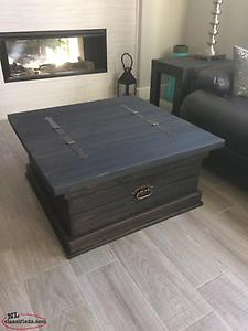 New Solid Pine Rustic Coffee/Storage Table