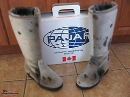 Ladies Seal Skin Boots Size 6