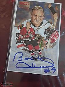 bobby hull signed card