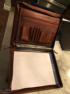 "NEW ""ROYCE"" Leather Zip Around Binder and Writing Portfolio!"