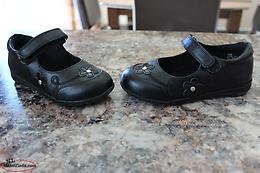 Size 10 toddler girls black shoes