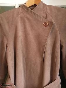 Vintage 1980's Ultrasuede Dusty Rose Trench Style Coat — NEW PRICE