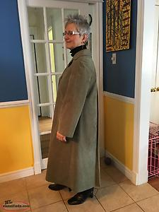 Vintage 1980's Ultrasuede Muted Green Trench Style Coat — NEW PRICE