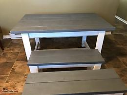 Moving Sale/ Rustic Classic Grey Table