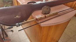 "Vintage 12""Custom Built Rod and Float Reel With Carrying Case"