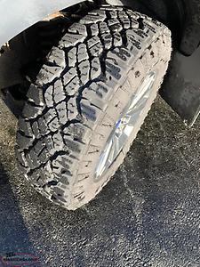 Ford F-150 special edition rims and 275/65/20 Goodyear Duratrac Tires