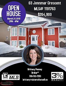 OPEN HOUSE | 63 Jennmar Crescent