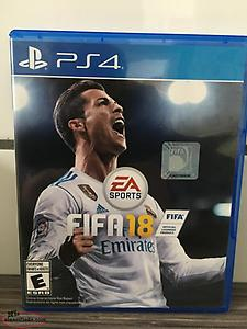 PS4 FIFA 18 Soccer game