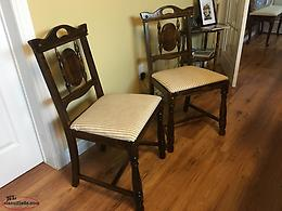 2 refurbished antique chairs