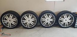 "Reduced !! 24""Chev Giovanna wheel and Tires"