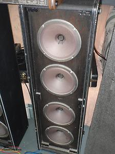 vintage 1970's traynor power mixer and speakers