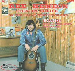 WTB Rex Hemeon Country Singer On The Isle Of Newfoundland Album