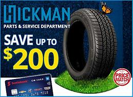 ALL SEASON SAVINGS!! Up to $200 off a set of tires!