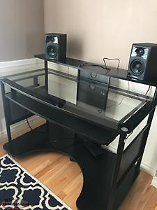 Glass Desk (Speakers not included)