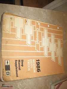1986 Chevy med truck shop manual supplement