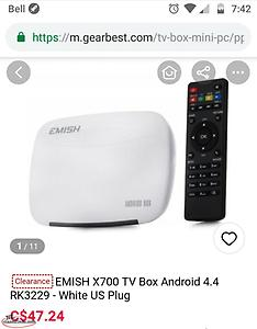 "$90 For B@th Android Stream TvBox& 7""RCA Tablet"